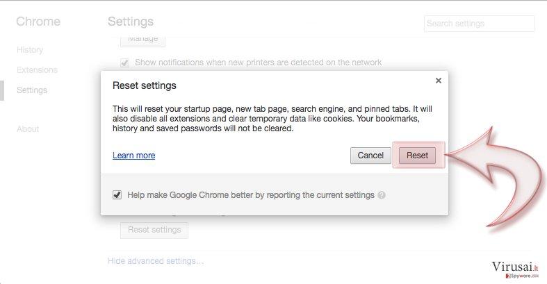 Google Chrome Nasıl Sıfırlanır? bellek kopyası