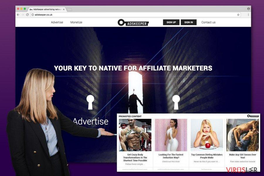 AdsKeeper reklamlarının resmi