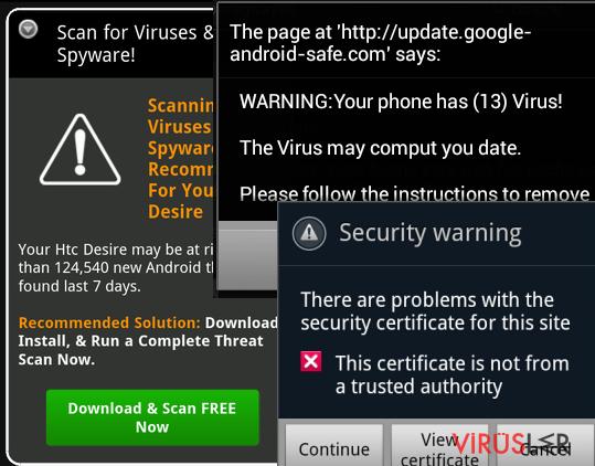 Android virüsü Resmi