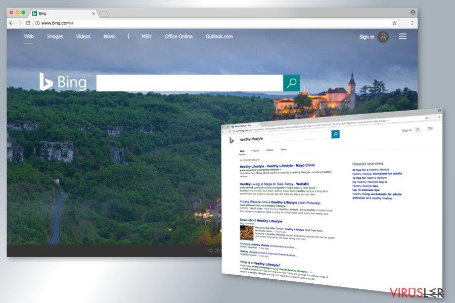 Bing Yönlendirme virüsü