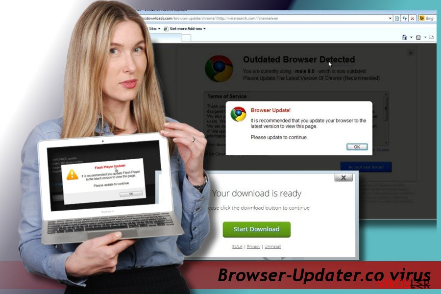 Browser-Updater.co pop-up Virüsü