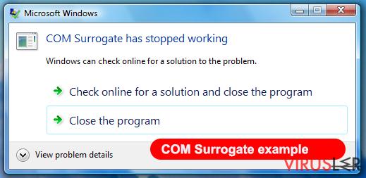 COM surrogate virüsü