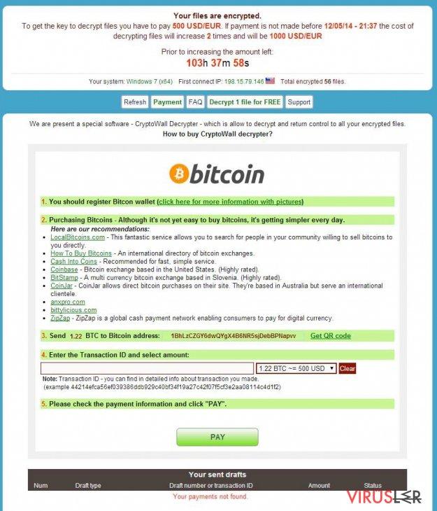 CryptoWall virüsü