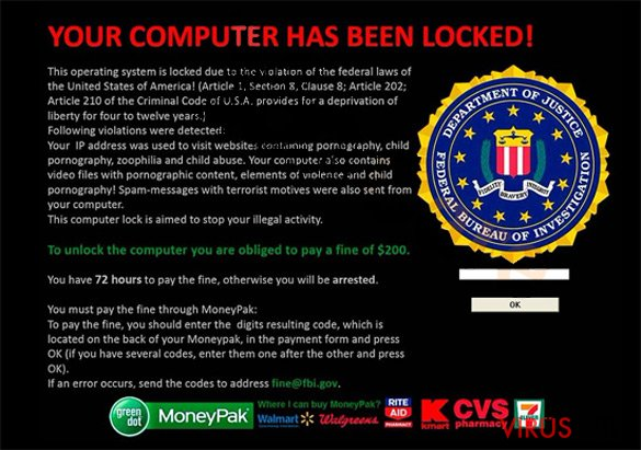 Your computer has been locked bellek kopyası