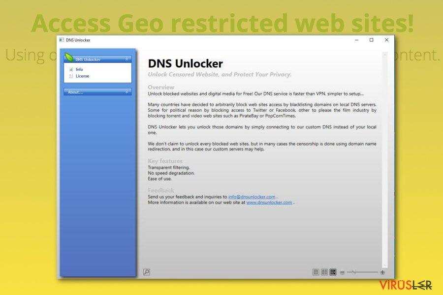 DNS Unlocker reklam amaçlı yazılımı