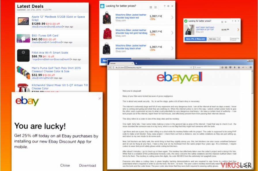 eBay virüsü varyasyonları