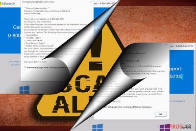 Error 0x80072ee7 dolandırıcılığının ekran görüntüsü