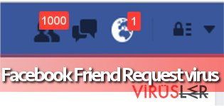 Facebook Friend Request virüsünün resmi