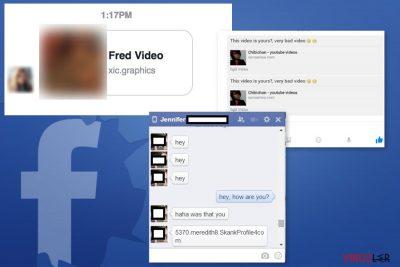 Facebook Message virüsü örnekleri