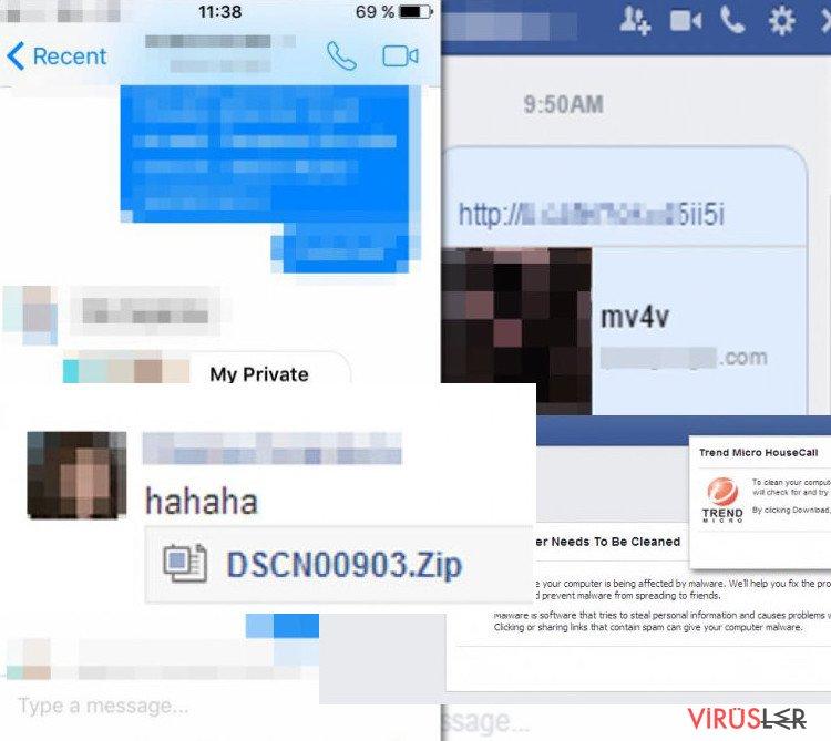 Facebook Virüs Türleri