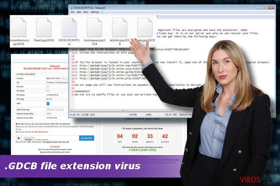 .GDCB dosya uzantı fidye yazılım virüsünü gösterir