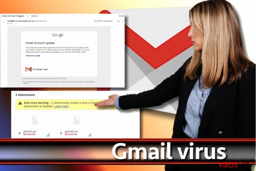 Gmail virüsü ekran görüntüsü