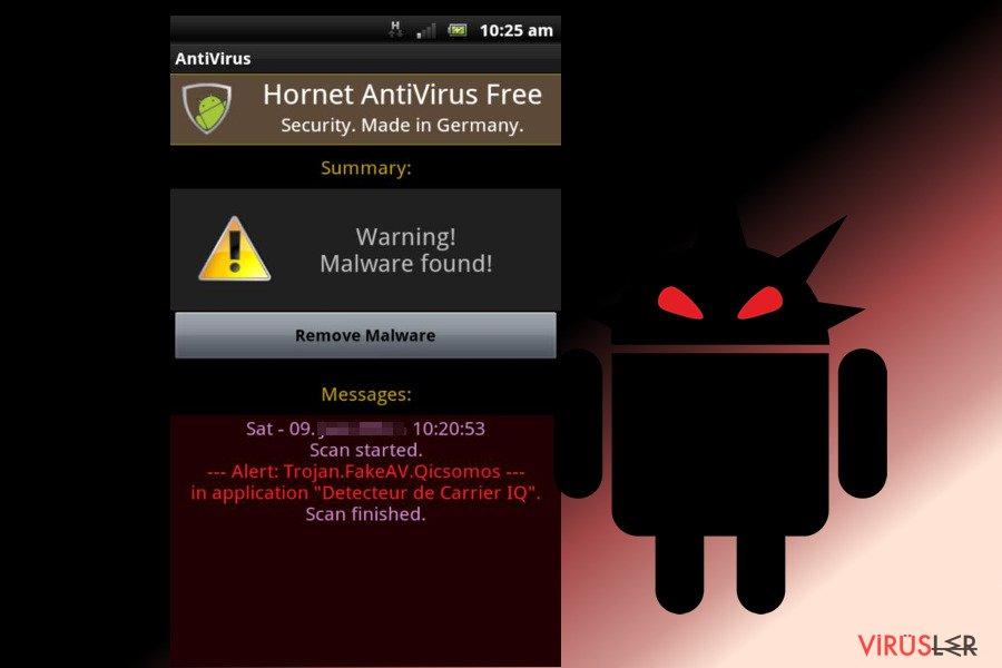 Android virüsü bellek kopyası
