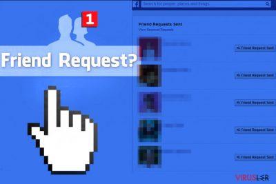 Facebook Friend Request virüsü yabancılara arkadaşlık isteği gönderir