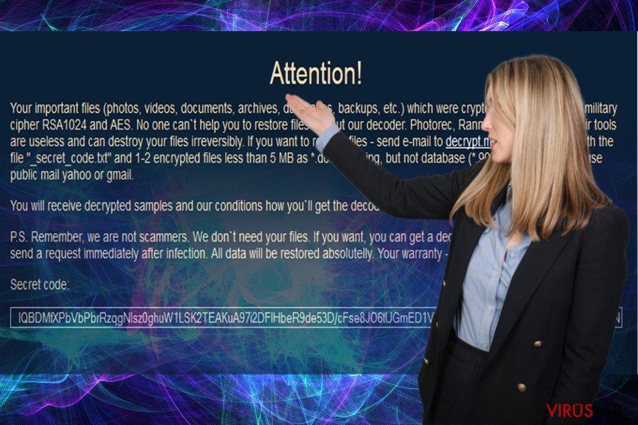 LeChiffre virüsünün resmi