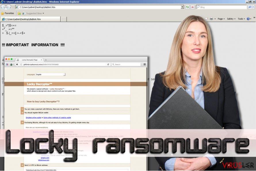 Locky fidye yazılımı bellek kopyası