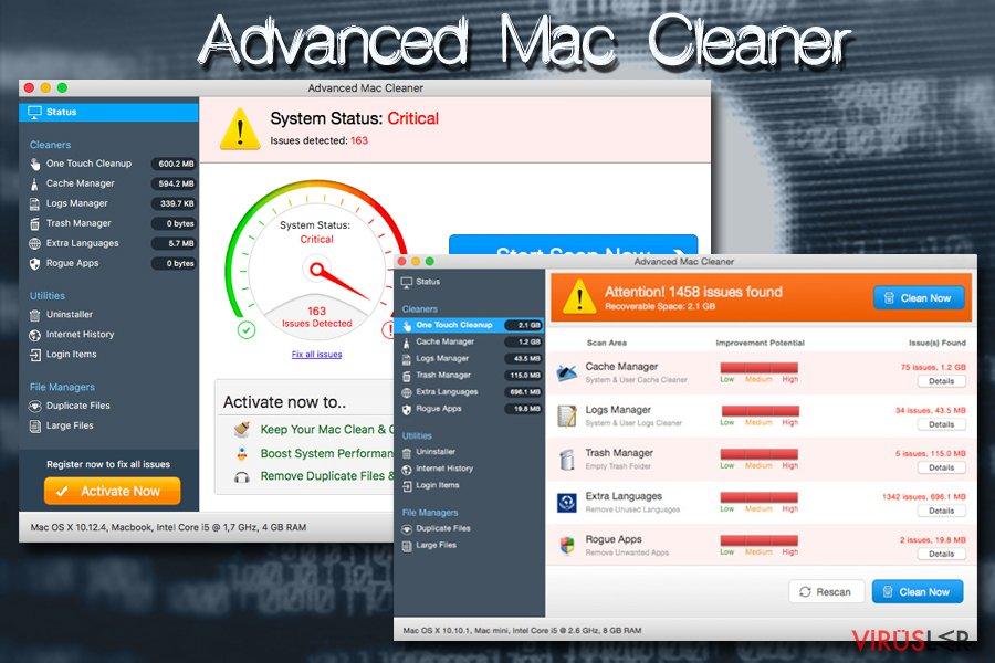 Advanced Mac Cleaner Mac virüsü