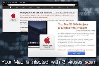 Your Mac is infected with 3 viruses Mac virüsü