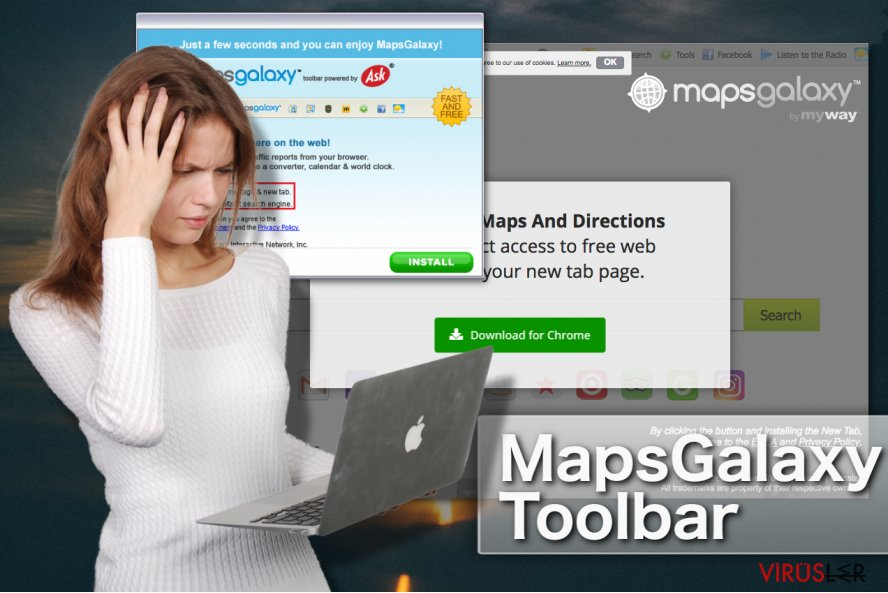 MapsGalaxy Toolbar