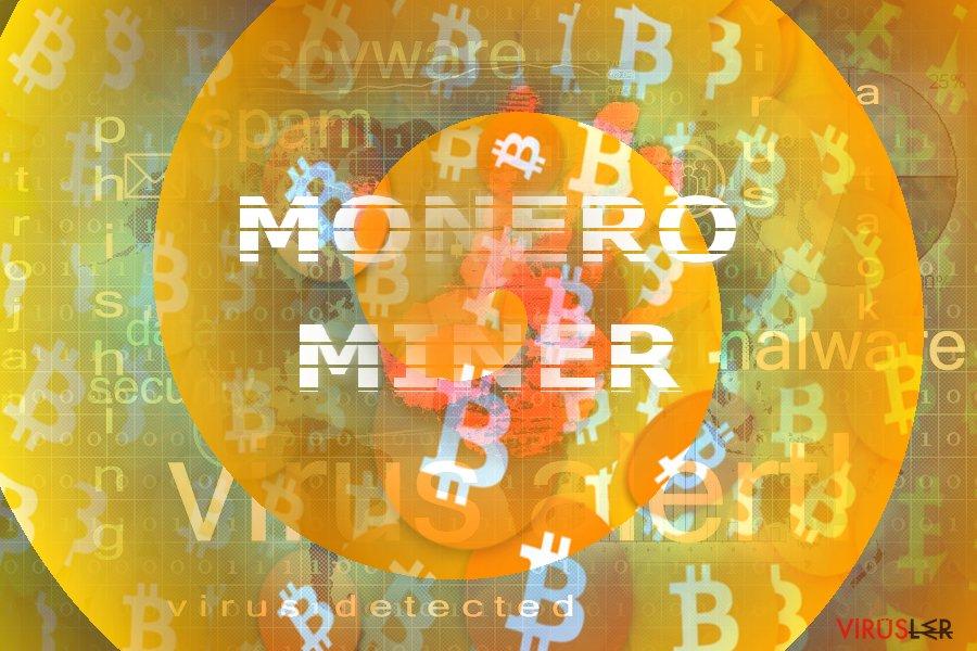 Monero Miner konseptini gösteren ilüstrasyon