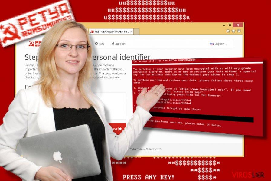 Petya virüsü ekran görüntüsü
