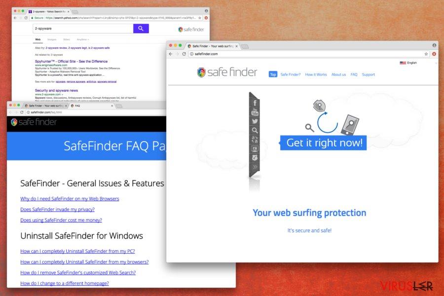 Safe Finder virüsü bellek kopyası