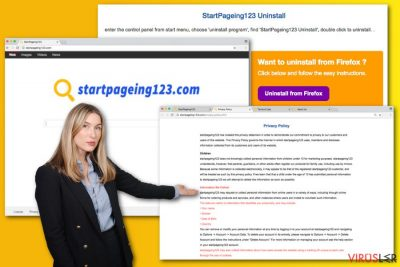 StartPageing123.com virüsünün örneği