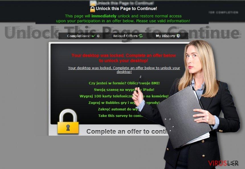 Unlock This Page dolandırıcılığı