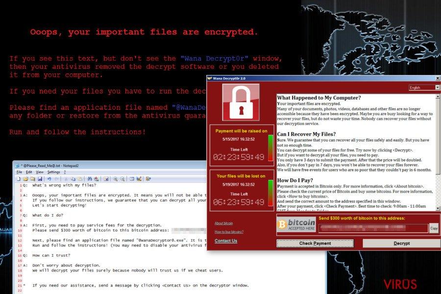 Wana Decrypt0r fidye virüsü