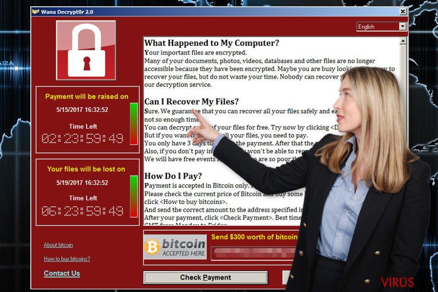 Wana Decrypt0r fidye yazılımı