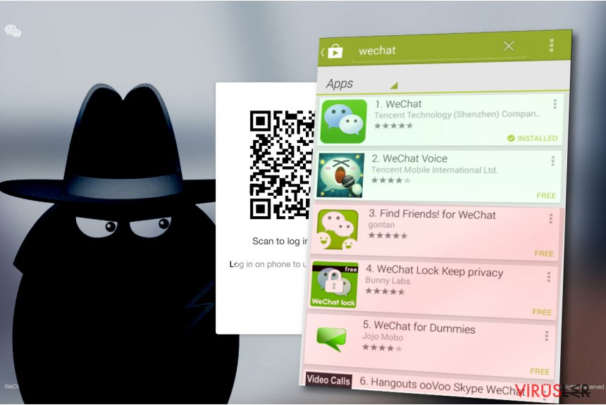 WeChat virus