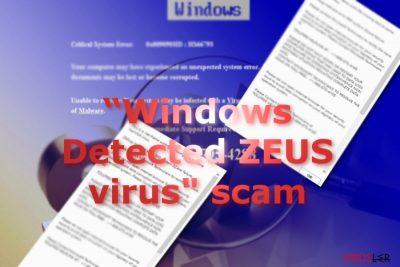 Windows Detected ZEUS dolandırcılığı mesajını gösteren resim