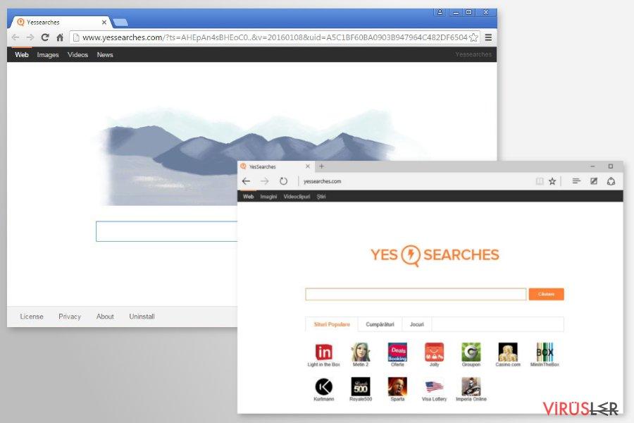 YesSearches.com redirect bellek kopyası