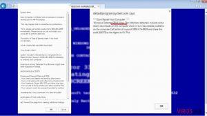 You Have A ZEUS Virus Teknik destek sahtekarlığı